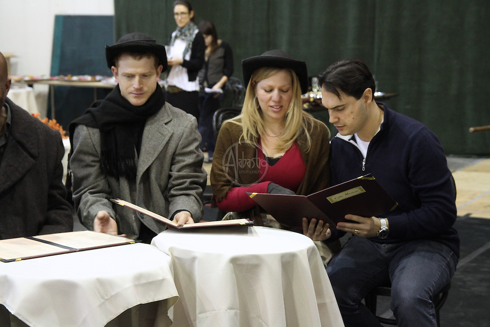 Seattle Opera staging rehearsal of La Boheme with the Gold Cast.