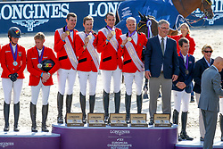Team Belgium, Wathelet Gregory, Verlooy Jos, Devos Pieter, Guery Jerome, Weinberg Peter, GER<br /> European Championship Jumping<br /> Rotterdam 2019<br /> © Hippo Foto - Dirk Caremans