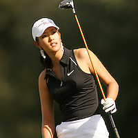 March 27, 2005; Rancho Mirage, CA, USA;  15 year old amateur Michelle Wie watches her ball go into the rough on the 2nd hole during the final round of the LPGA Kraft Nabisco golf tournament held at Mission Hills Country Club.  Wie shot a 1 under par 71 for the day and an even par 288 for the tournament and finished tied for 14th and won the award for low amateur.<br />Mandatory Credit: Photo by Darrell Miho <br />&copy; Copyright Darrell Miho