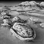 Egg Factory - Bisti Badlands - New Mexico - Black & White