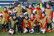 St Peters BC are proud to be the match ball boys during the U17 European Championships match between Portugal and Scotland at Simple Digital Arena, Paisley, Scotland on 20 March 2019.