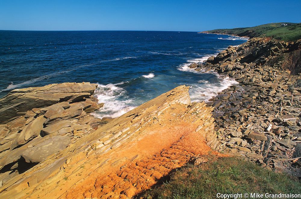 rocky shoreline along Western Cape Breton<br /> Marjoree<br /> Nova Scotia<br /> Canada