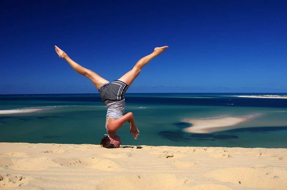 Yoga on Bazaruto Island in the Bazaruto Archipelago, Mozambique