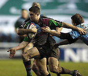 2005/06, National League One, NEC Harlequins vs Otley, Simon Keogh run's in a try and is congratulated by team mates as Quins's continue the unbeaten run running out winners against Oatley by 43 points to 3,  at the Stoop, Twickenham ENGLAND, 14.01.2006    © Peter Spurrier/Intersport Images - email images@intersport-images.   [Mandatory Credit, Peter Spurier/ Intersport Images].