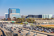 405 Freeway Northbound And Southbound Lanes At John Wayne Airport In Irvine California