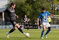 FODBOLD: Daniel Pless (Ballerup BK) og Daniél Jensen (Hornbæk IF) under finalen i Seriepokalen mellem Hornbæk IF og Ballerup Boldklub den 20. maj 2019 på Brøndby Stadion. Foto: Claus Birch.