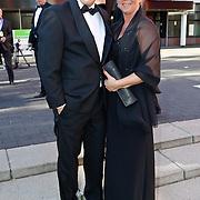 NLD/Hilversum/20100830 - Voetbalgala 2010, Jan van Halst en partner Karin Heeregrave