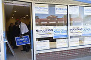 East Meadow, New York, USA. October 1, 2017. DEAN BENNETT at Grand Opening of East Meadow Democratic candidates office.