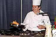 Premier Health Partners executive chef Anne Whetstone leads a healthy cooking demonstration during the Dayton Women's Fair at the Airport Expo Center in Vandalia., Saturday, September 17, 2011.