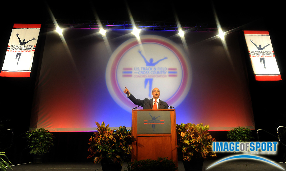 Dec 15, 2009; Orlando, FL, USA; at the USTFCCCA convention opening session at the J.W. Marriott Grande Lakes.