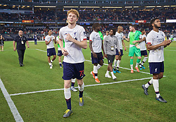 NEW YORK, NEW YORK, USA - Wednesday, July 24, 2019: Liverpool's Sepp van den Berg after a friendly match between Liverpool FC and Sporting Clube de Portugal at the Yankee Stadium on day nine of the club's pre-season tour of America. The game ended in a 2-2 draw. (Pic by David Rawcliffe/Propaganda)