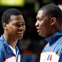 27 August 2011: Kevin Seraphin is seen during the friendly game won 74-44 by France over Belgium, in Lievin, France.