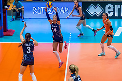 06-06-2018 NED: Volleyball Nations League Netherlands - Italy, Rotterdam<br /> Italy wins with 3-2 / Laura Dijkema #14 of Netherlands