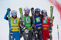 25.01.2014, Kreischberg, St. Georgen, AUT, FIS Weltcup Ski Cross, im Bild v.l.n.r. Katrin Ofner (AUT, 4. Platz), Marielle Thompson (CAN, 3. Platz), Ophelie David (FRA, 1. Platz), Fanny Smith (SUI, 2. Platz) // f.l.t.r. 4th place Katrin Ofner of Austria, 3rd place 1st place Marielle Thompson of Canada, Ophelie David of France, 2nd place Fanny Smith of Switzerland, during the FIS Ski Cross World Cup at the Kreischberg in St. Georgen, Austria on 2014/01/25. EXPA Pictures © 2014, PhotoCredit: EXPA/ Johann Groder