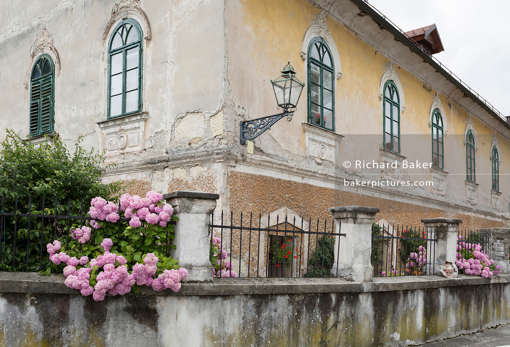 Local architecture of a house in the rural central Slovenian town of Kamnik, on 25th June 2018, in Kamnik, Slovenia.