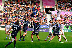 September 24, 2017 - Paris, France - The RCT Second row Romain Taofifenua in action during The French Rugby Championship Top14 Stade Francais vs Rugby Club Toulonnais at The Jean Bouin Stadium in Paris - France.RCT won 15-19 (Credit Image: © Pierre Stevenin via ZUMA Wire)
