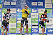 Steve Cummings of Great Britain and Team Dimension Data celebrates his win of the Tour of Britain 2016 stage 8 , London, United Kingdom on 11 September 2016. Photo by Mark Davies.
