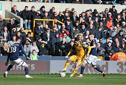 Beram Kayal of Brighton and Hove Albion holds up the ball - Mandatory by-line: Arron Gent/JMP - 17/03/2019 - FOOTBALL - The Den - London, England - Millwall v Brighton and Hove Albion - Emirates FA Cup Quarter Final
