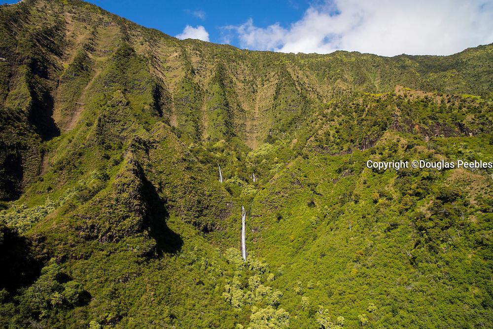 Waterfall, Kalalau Valley, Napali Coast, Kauai, Hawaii