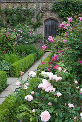 Path leading to a door in the Rose Garden at Sissinghurst Castle