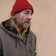 Portrait Mark, one of Atlantic City invisible homeless persons on the boardwalk in the winter.<br /> <br /> release # 2583