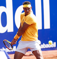 April 27, 2018 - Barcelona, Barcelona, Spain - 27th April 2018. Barcelona, Spain; Banc Sabadell Barcelona Open Tennis tournament; Rafa Nadal during his quarter of final match between Martin Klizan (Credit Image: © Eric Alonso via ZUMA Wire)