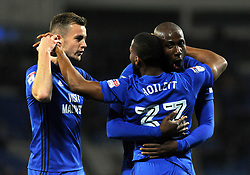 Junior Hoilett of Cardiff City celebrates his goal with team mates - Mandatory by-line: Nizaam Jones/JMP - 31/10/2017 -  FOOTBALL - Cardiff City Stadium- Cardiff, Wales -  Cardiff City v Ipswich  Town- Sky Bet Championship