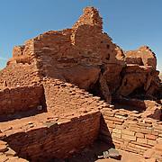Wupatki Pueblo ruins at Wupatki National Monument - AZ