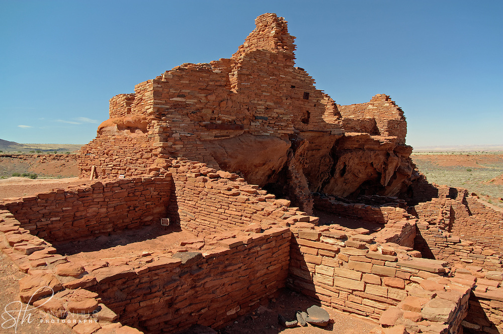 Wupatki Pueblo ruins at Wupatki National Monument - AZ
