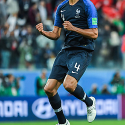 Raphael Varane of France celebrates during the Semi Final FIFA World Cup match between France and Belgium at Krestovsky Stadium on July 10, 2018 in Saint Petersburg, Russia. (Photo by Anthony Dibon/Icon Sport)