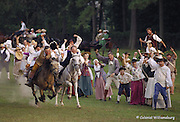 A horse race at Colonial Williamsburg.