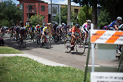 Megan Guarnier (USA) of Boels-Dolmans Cycling Team rides mid-pack during the fourth, 70 km road race stage of the Amgen Tour of California - a stage race in California, United States on May 22, 2016 in Sacramento, CA.