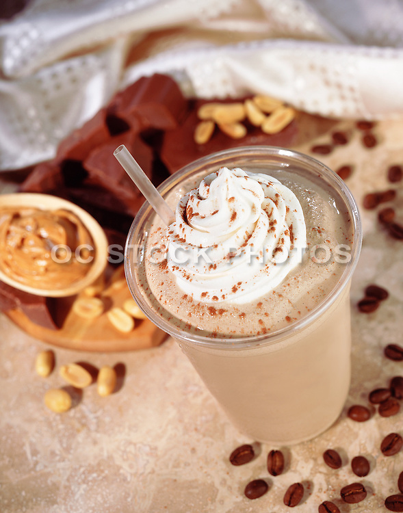 Frozen Mocha Coffee Drink With Whip Cream