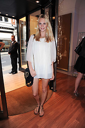 POPPY DELEVINGNE at a party to celebrate the B.zero 1 design by Anish Kapoor held at Bulgari, 168 New Bond Street, London n 2nd June 2010.