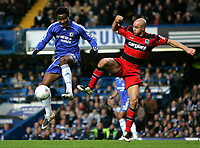 Photo: Tom Dulat.<br /> <br /> Chelsea v Queens Park Rangers. FA Cup Third Round. 05/01/2008. <br /> <br /> Gavin Mahon of Queens Park Rangers and Mikel of Chelsea with the ball.