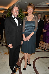 JOHN & LADY CAROLYN WARREN at the 24th Cartier Racing Awards held at The Dorchester, Park Lane, London on 11th November 2014.