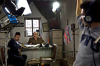 Syrian television soap opera being filmed