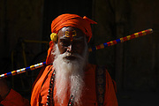Portrait of a Hindu man in Jaipur. Rajasthan province, India