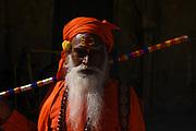 Portret van een man in jaipur, Rajasthan provincie, India