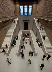 Stairway within the newly reopened Neues Museum or New Museum on Museumsinsel in Berlin