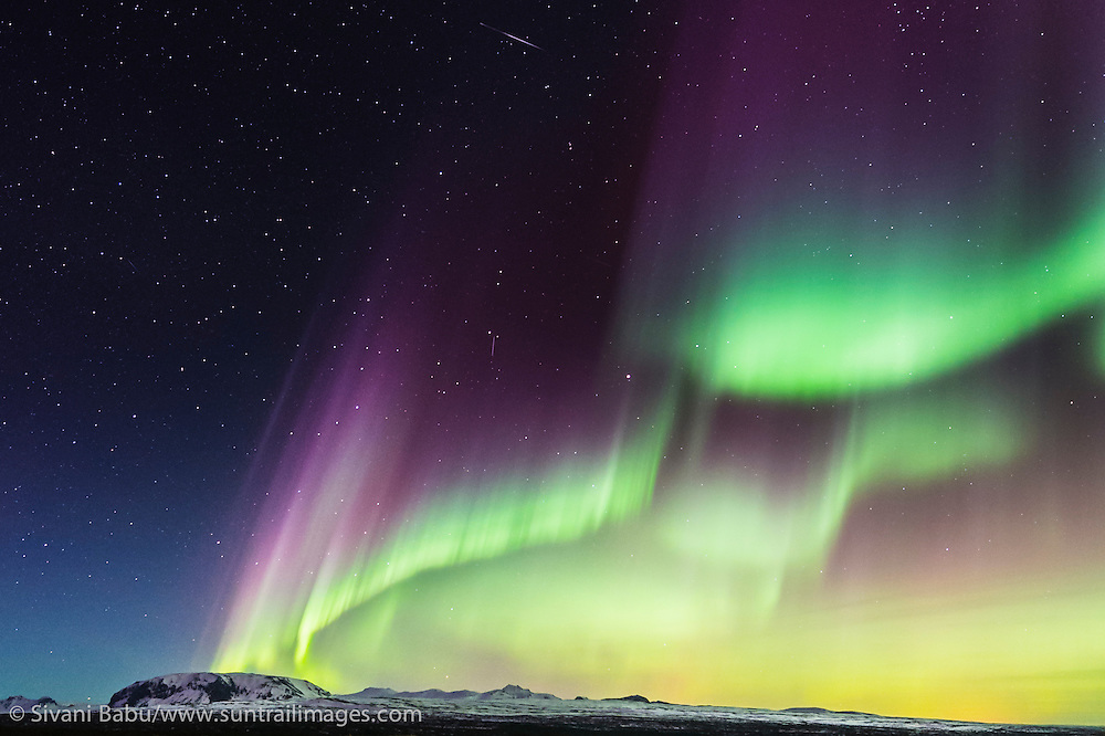 The aurora borealis, or Northern Lights, illuminates the night sky in Iceland in March following the most significant solar storm of 2015 thus far.