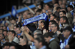 BRIGHTON AND HOVE ALBION FANS, Aston Villa v Brighton &amp; Hove Albion Sky Bet Championship Villa Park, Brighton Promoted to Premiership Sunday 7th May 2017 Score 1-1 <br /> Photo:Mike Capps