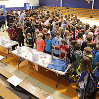 Adam Robison | BUY AT PHOTOS.DJOURNAL.COM<br /> Guntown Middle School seventh graders gather for an engery conservation expo that was put on by JESCO and Siemens Friday morning at the school.