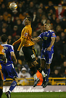 Photo: Steve Bond/Sportsbeat Images.<br /> Wolverhampton Wanderers v Leicester City. Coca Cola Championship. 22/12/2007. Jay Bothroyd (L) gets in front of Patrick Kisnorbo (R)
