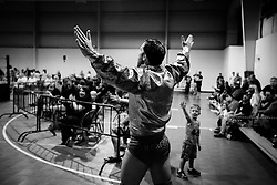 Fans of all sizes cheer as BJ Hancock enters the arena during Old School Championship Wrestling Sunday, March 13, 2016 at the Hanahan Sports Complex. Paul Zoeller/Staff