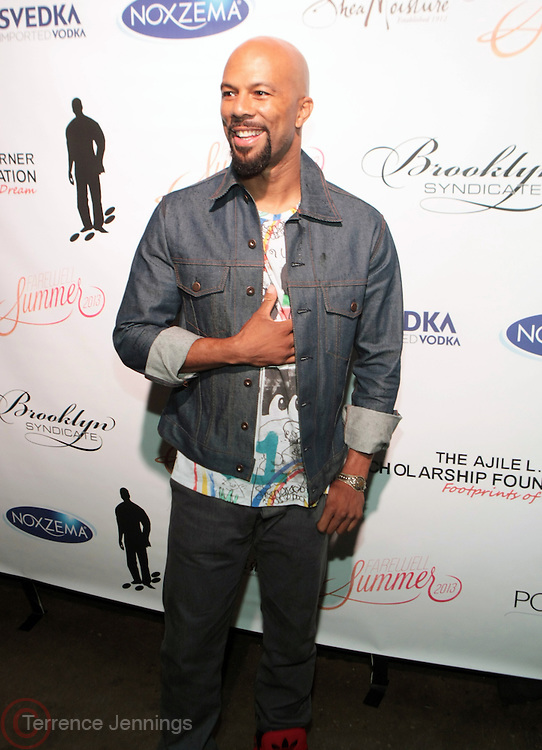 12 September 2013- Brooklyn, NY: Recording Artist/Actor Common attends the Farewell to Summer 2013 Benefit Concert for the Ajile Turner Foundation held at the Galapagos Art Space on September 12, 2013 in Brooklyn, NY. ©Terrence Jennings