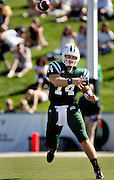 Photo by Kevin Riddell.Ohio University quarterback Brad Bower releases a pass while playing  Kent State on Saturday, September 29, 2007.