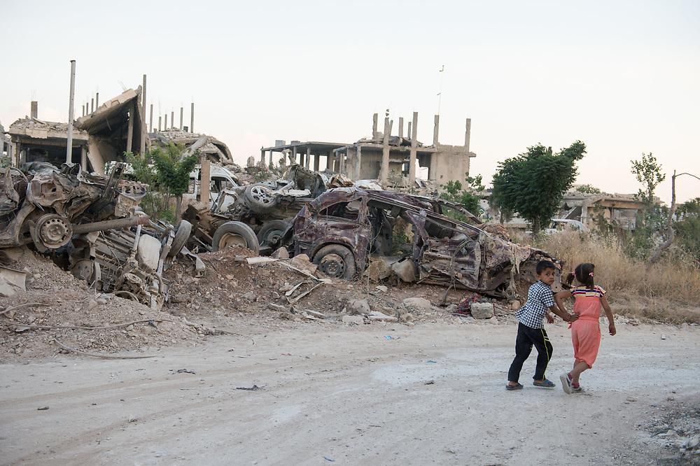 Destroyed street in Kobanê. Kobanê (Ayn al-Arab), Syria, June 21, 2015