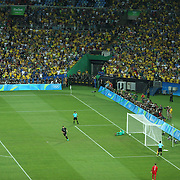 Football - Olympics: Day 15  Niklas Suele #5 of Germany scores from the penalty spot during the penalty shoot out beating Weverton #1 of Brazil during the Brazil Vs Germany Men's Football Gold Medal Match at Maracana on August 20, 2016 in Rio de Janeiro, Brazil. (Photo by Tim Clayton/Corbis via Getty Images)