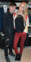 ROBIE FURZE and LADY MARY CHARTERIS at a party to celebrate the reopening of the Lacoste Premium Store at 233 Regent Street, London on 28th May 2014.